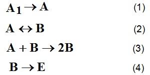 представим изменение структурного состояния вяжущей системы в виде следующих квазиреакций