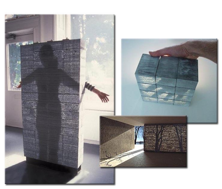 Прозрачный бетон. Примеры эффекта